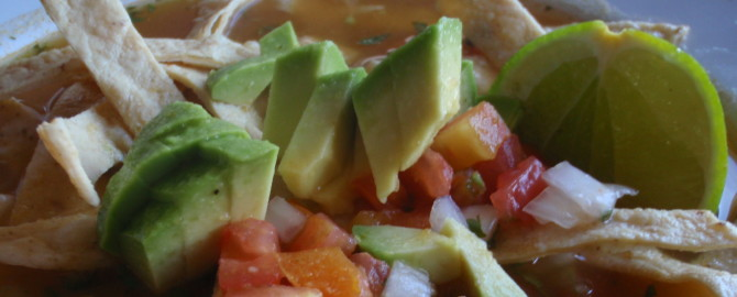 Michele the Trainer's Organic Tortilla Soup