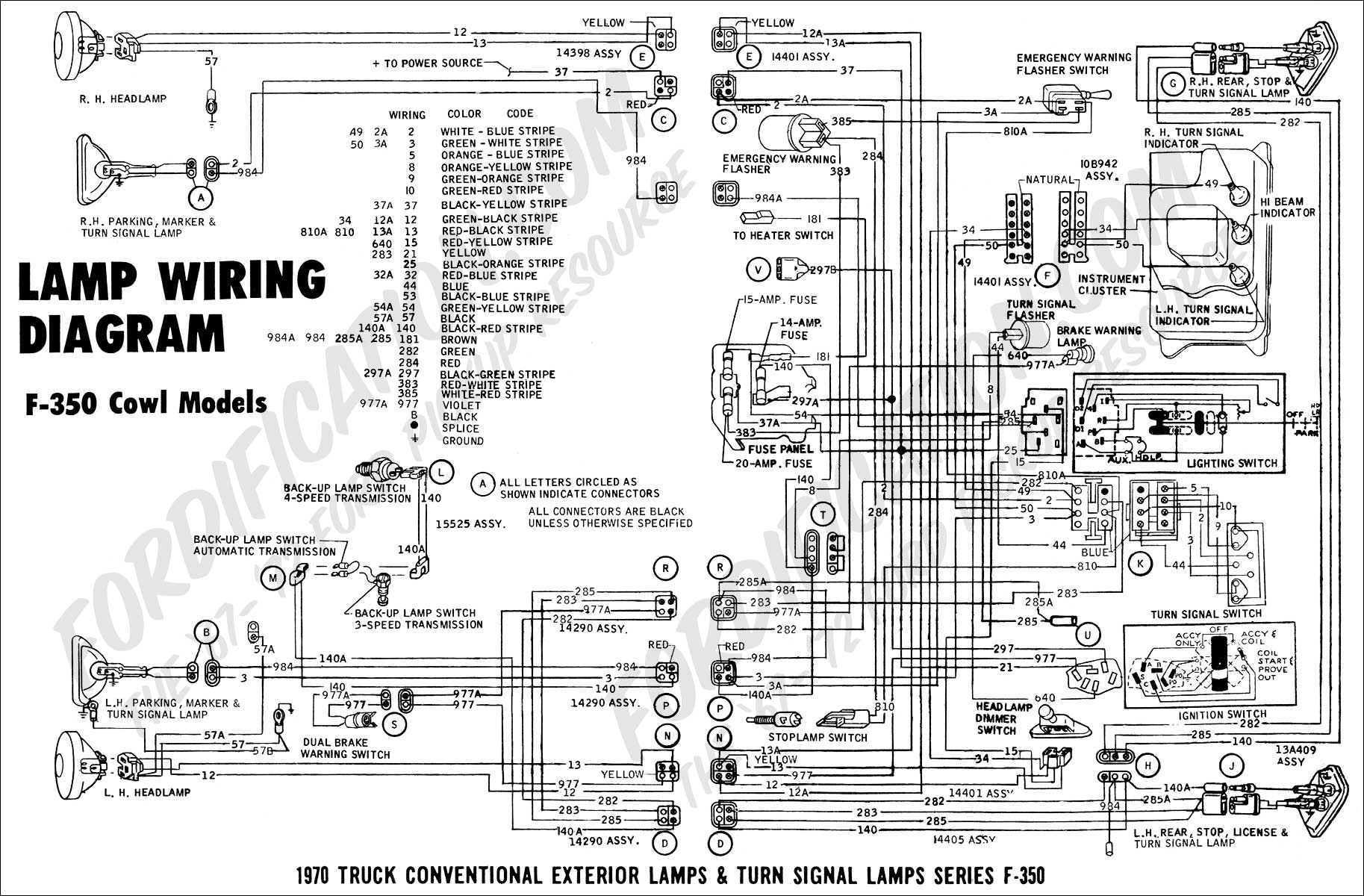 wiring diagram 70F350cowl_lights01 2000 ford f 250 voltage regulator wiring diagram 2006 chrysler pt  at bayanpartner.co