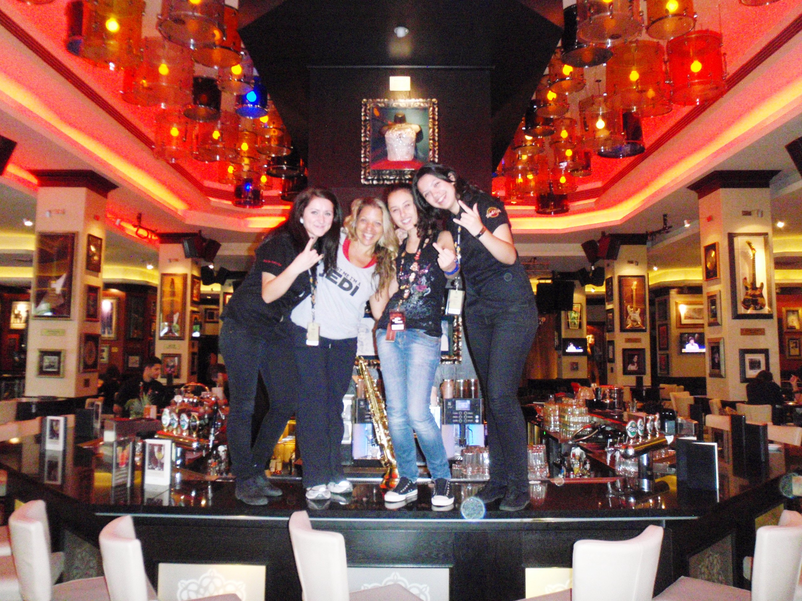 Dancing on the Bar of the Hard Rock Cafe Bucharest Romania ...